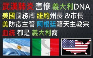武漢肺炎-義大利-義大利人-疫情-美國-國務卿-紐約-紐約州-州長-市長-白宮-專家-美國人-梵諦岡-天主教-教宗-方濟各-神父-阿根廷-阿根廷人-中國-新冠-病毒-義大利裔-義裔-DNA-血統-歐洲-母國-移民-北美洲-南美洲-公衛-公共-衛生-疾病-傳播-傳染-傳染病-管制-控制-研究所-研究-所長-過敏