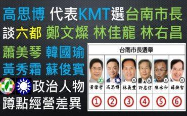 要代表國民黨參選台南市長的高思博,在批評民進黨的台南長期執政。讓我想到了國民黨長期只愛選舉時,空降外來人士,選敗之後就又落跑!不是像民進黨選將一樣,都會在地繼續蹲點經營!