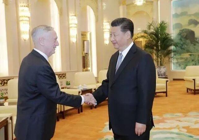 alt=中國-總書記-習近平-美國-國防部長-馬提斯
