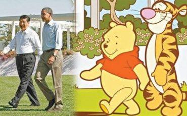 習近平-歐巴馬-小熊-維尼-老虎-美國-總統-中國-國家-主席