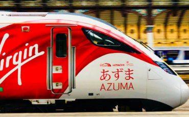 AZUMA-英國-東部-高鐵-快鐵-新幹線-列車-系統-名稱-日語-東方-東邊-命名-維珍-集團-VIRGIN GROUP-企業-富豪-富商-首富-CEO-主席-董事長-總裁-創辦人-布蘭森-爵士-日本-HITACHI-日立-製造-高速-鐵路-電車-鐵道-幹線-軌道-火車-電聯車-車廂-英格蘭-蘇格蘭-威爾斯-北愛爾蘭-大英帝國-帝國-日文-取名-稱呼-名字-稱號-商標-名稱-平假名-印刷-書寫-漢字-塗裝-字樣-LOGO-太魯閣號