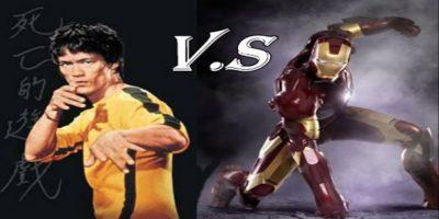 鋼鐵人-李小龍-iron-man-bruce-lee-對決-搞笑-功夫-武術-中國-機械人-機器人-一對一-決鬥-戰鬥-公仔-玩偶-動畫-美國-漫威-超級-英雄