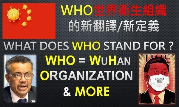 中國-武漢-肺炎-新型-冠狀-病毒-傳染病-WHO-世界-衛生-組織-CHO-衣索比亞-秘書長-護航-掩護-中共-習近平-政權-簡寫-翻譯-名稱-意義-含意-台灣-會員-聯合國-舔中-親中